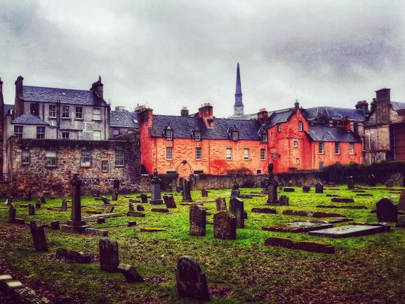 Abbot House Dunfermline from The Abbey